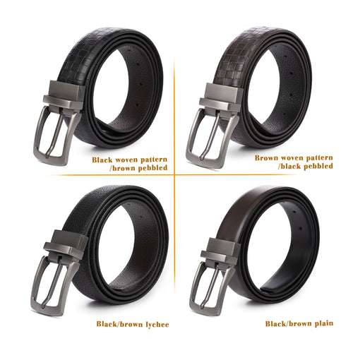 Reversible Metal Needle Buckle Belt 4 Colors
