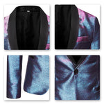 Magic Bluish Violet Tuxedo Jacket Luxury Prom Blazer