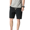 Loose Elastic Waist Shorts Black