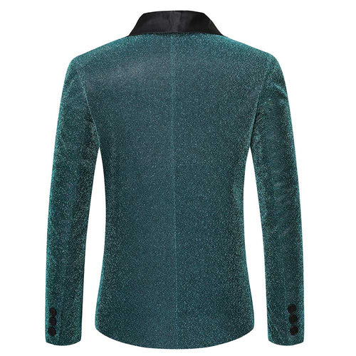 Teal Prom Jacket Spun Gold Blazer