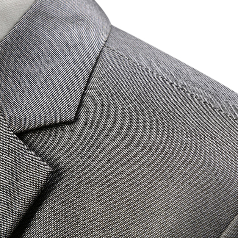 Silver Grey Suit Slim Fit 3-Piece Casual Suit