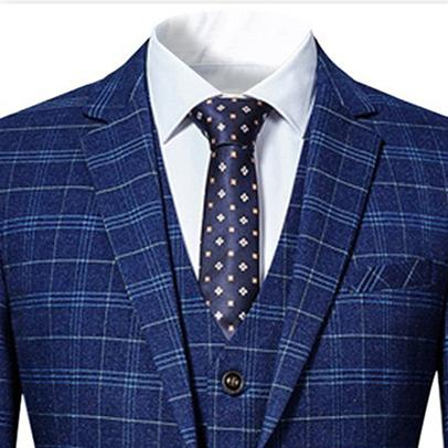 Three Piece Slim Fit Vintage Navy Suit