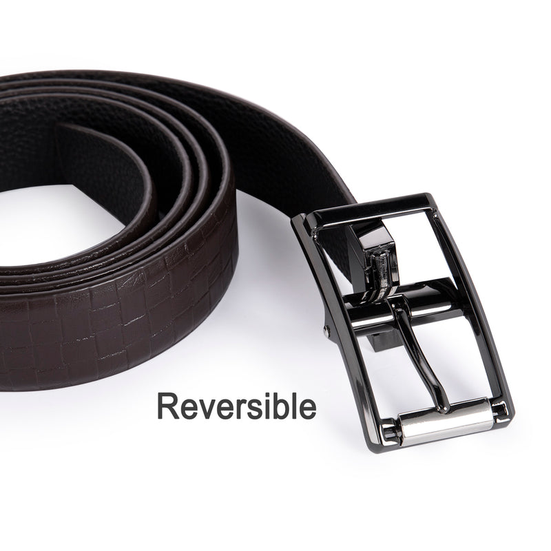Black Reversible Japanese Pin Buckle Belt 2 Colors