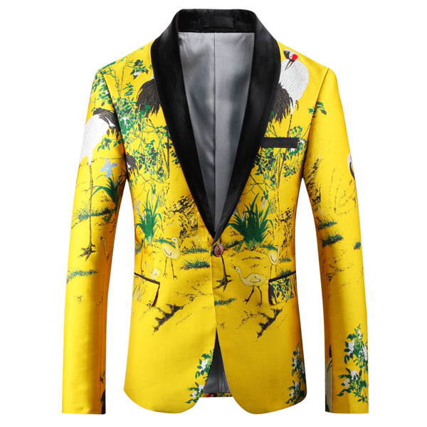 Slim Fit Dinner Blazer Yellow