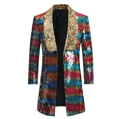 Slim Fit Glitter Paisley Blazer 3 Colors