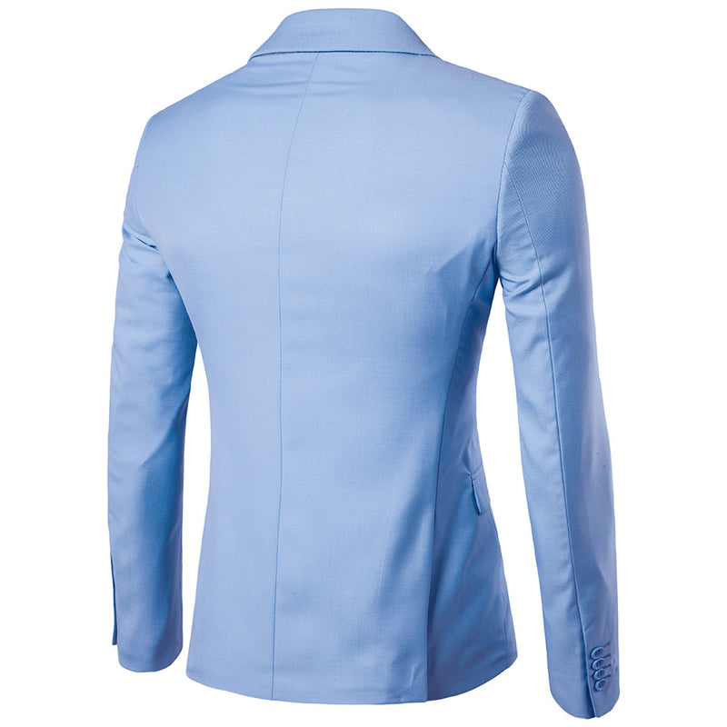 Baby Blue Casual Blazer Slim Fit Business Blazer