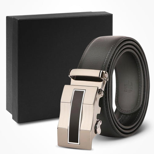 Brown & Black Genuine Belt Raised Grain Belt