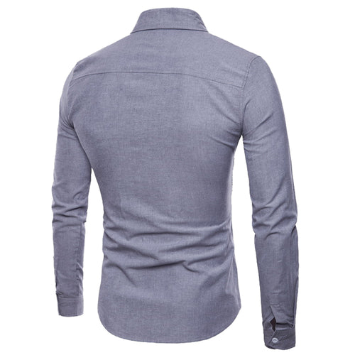 Slim Fit Ribbon Decorated Shirt Grey