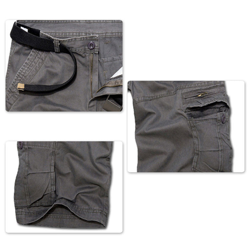Loose Summer Casual Shorts Grey