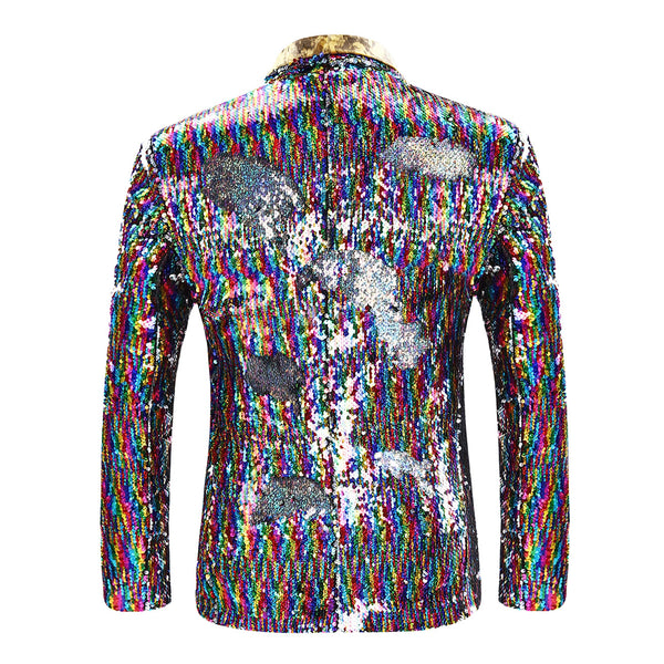 Slim Fit Motley Shiny Sequin Coat 2 Choices