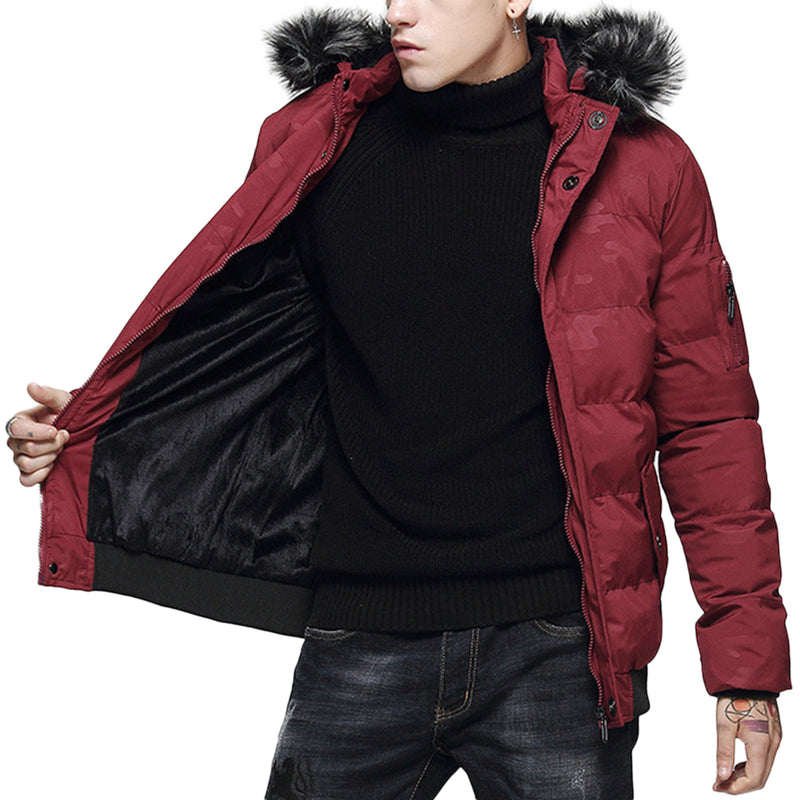 Hooded Camouflage Quilted Coat 4 Colors - Cloudstyle