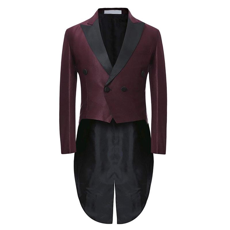 Two Piece Slim Fit Suit Maroon Cocktail Suit