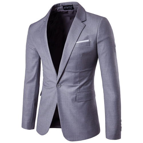 Slim Fit Casual Blazer 9 Colors - Cloudstyle