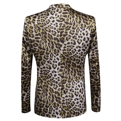 Slim Fit 2-Piece Leopard Printed Suit