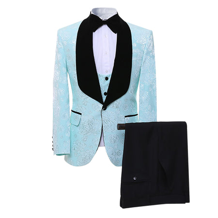 3-Piece Slim Fit Check Stylish Suit 2 Colors