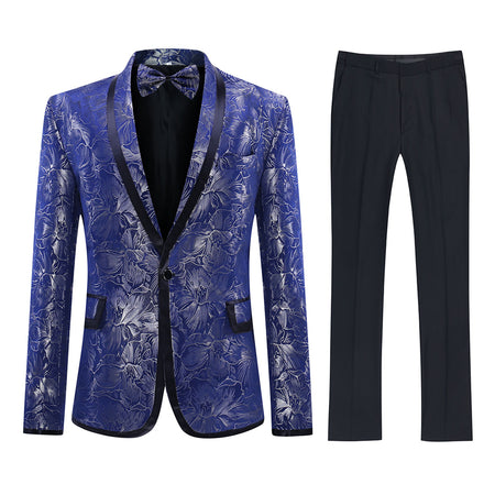 3-Piece Allover Floral Print Suit 3 Colors