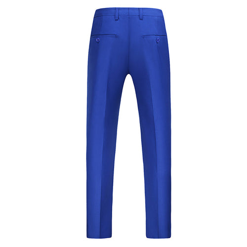 Modern Fit Straight Leg Classic Dress Pants Blue