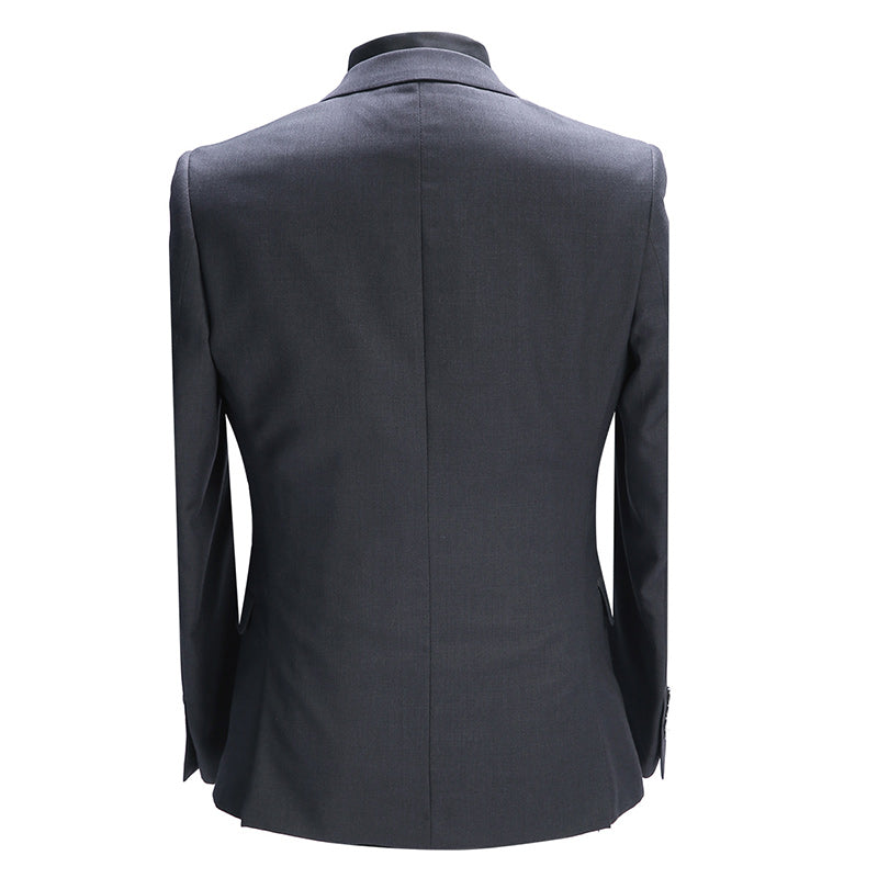 2-Piece Slim Fit Black & Grey Suit