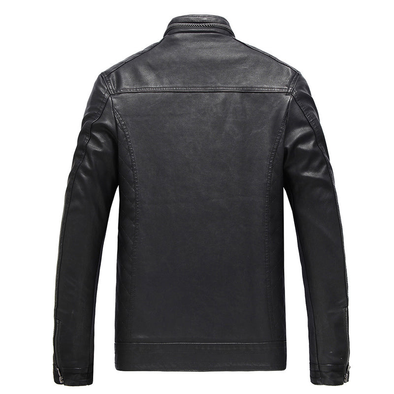 Fashion Leather Coat Black - Cloudstyle