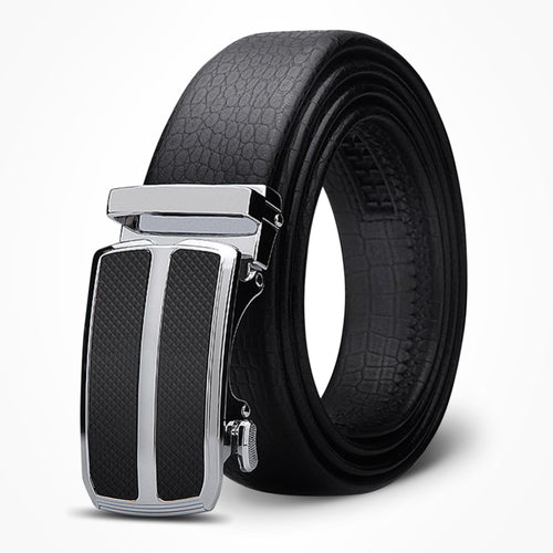 Crocodile Pattern Leather Belt For Men