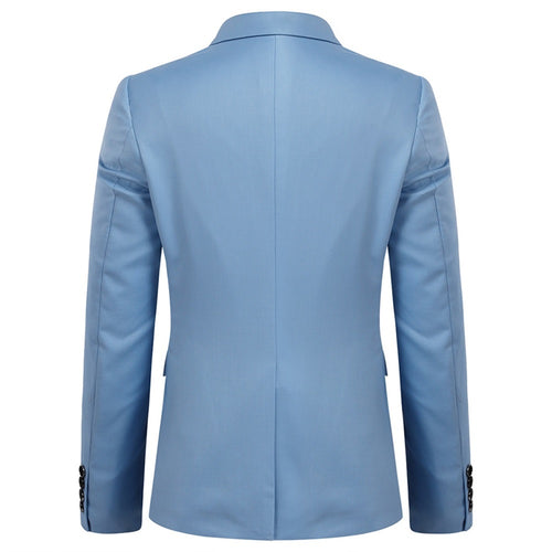 2-Piece Slim Fit Simple Designed LightBlue Suit