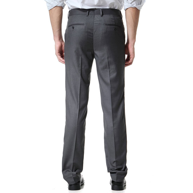 DimGrey Relaxed Flat Front Straight-Fit Suit Dress Pant