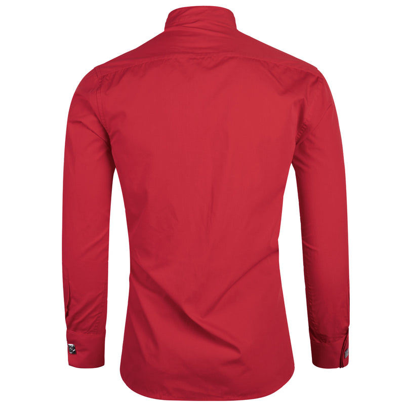 Slim Fit Dress Shirt Red