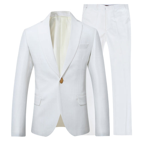 2-Piece Slim Fit Casual Suit 3 Colors - Cloudstyle