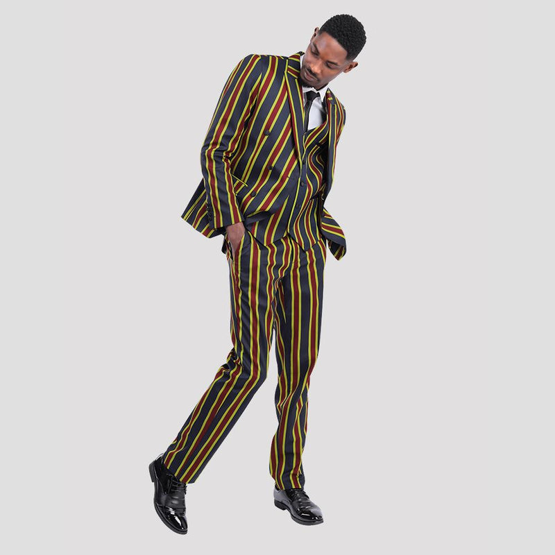 Multicolors Stripe Suit 3-Piece Casual Suit