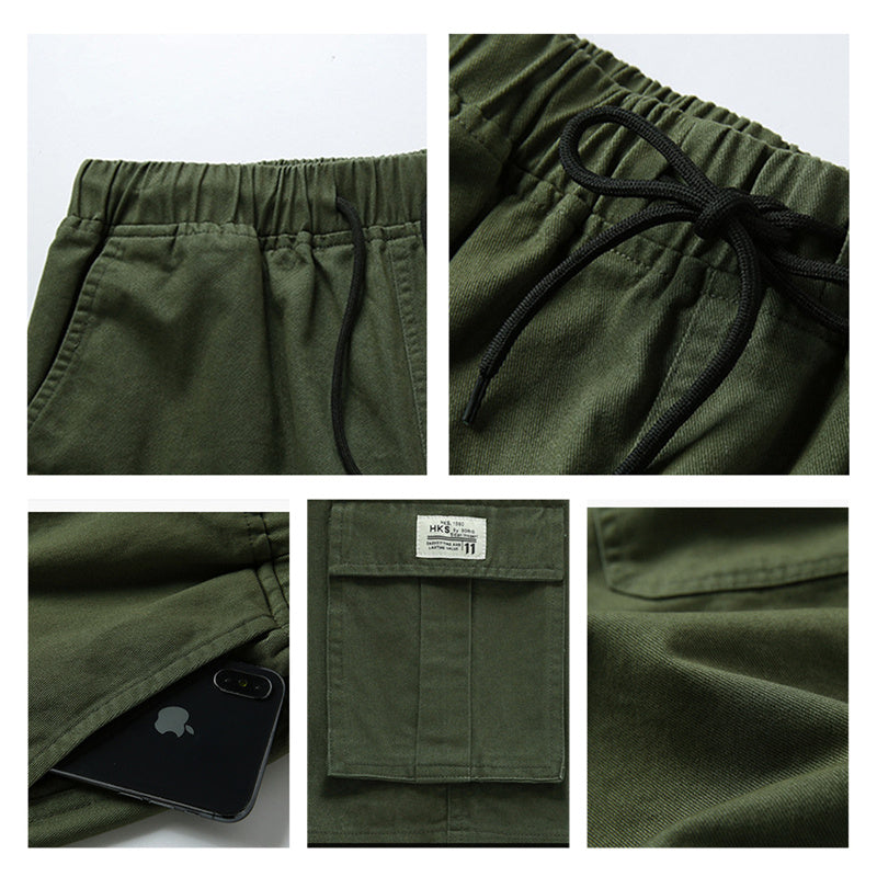 Chino Cargo Pants For Men Militry Green Shorts