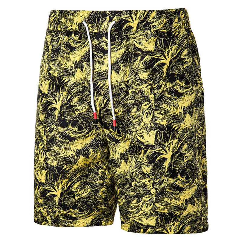 Relaxed Fit Paisley Beach Shorts Yellow