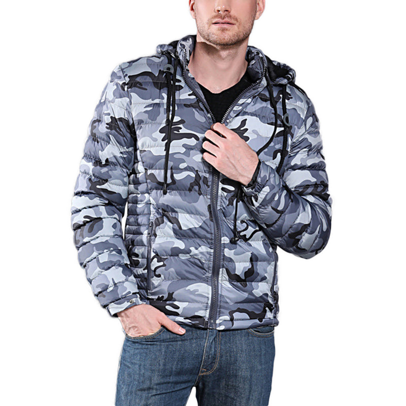 Hooded Camouflage Puffer Jacket 2 Colors - Cloudstyle