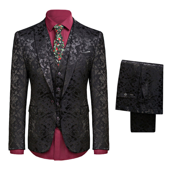 3-Piece Paisley Print Suit 2 Colors