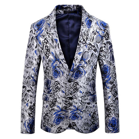 Slim Fit Flame Printed Blazer 2 Colors