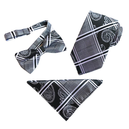 2-Piece Bow Tie Pocket Square Set 9 Styles