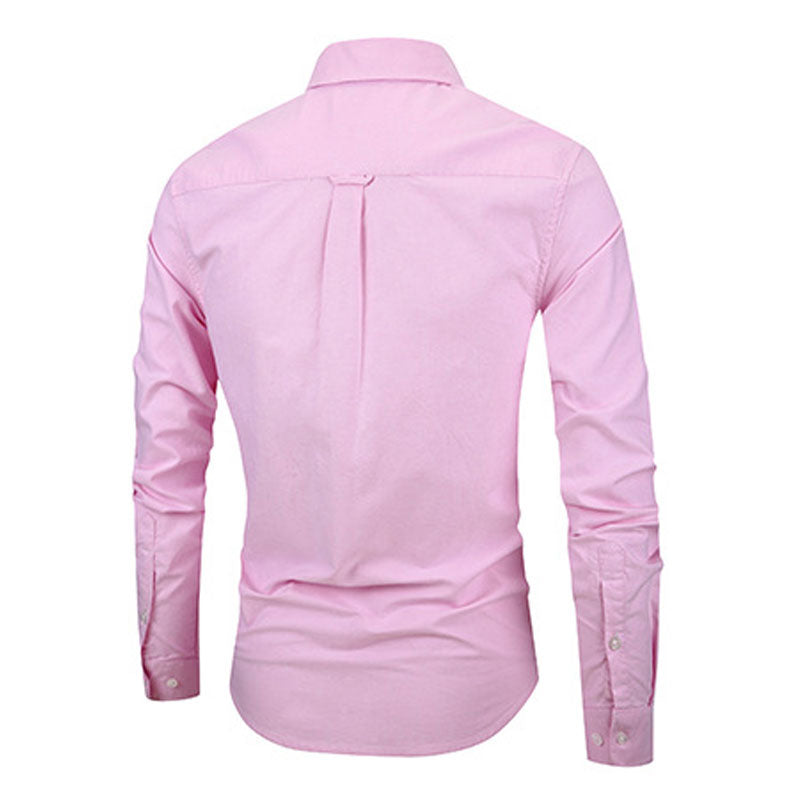 Slim Fit Pink Stylish Cotton Shirt