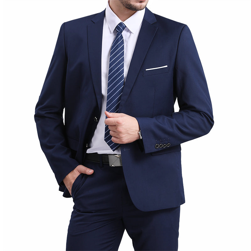 Classic Navy Blazer Two Buttons Blazer