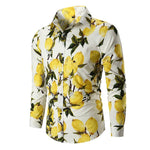 Slim Fit Lemon Print Shirt White