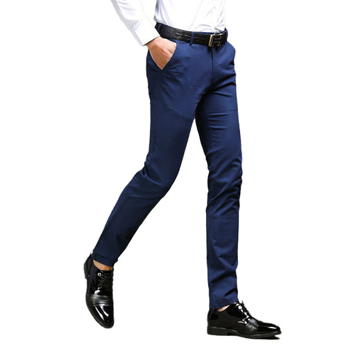 Modern Fit Elastic Pants Navy
