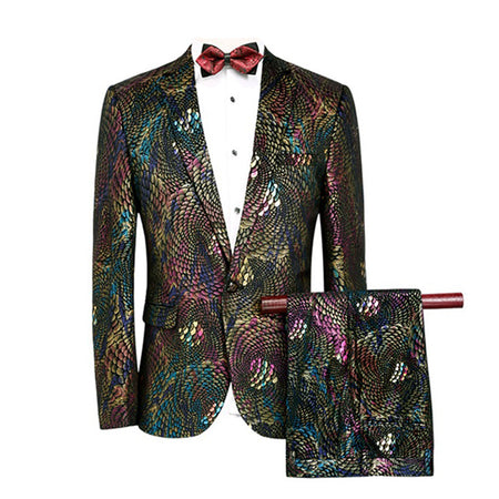 2-Piece Slim Fit Party Paisley Suit 4 Colors