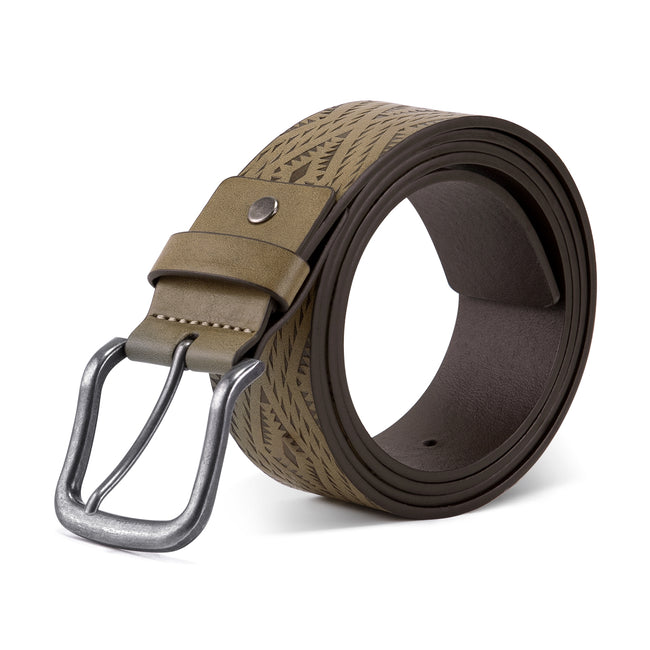 Rhombus Line Leather Belt 4 Colors