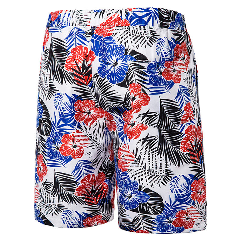 Relaxed Fit Floral Casual Shorts White