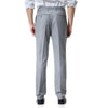 Light Grey Relaxed Flat Front Straight-Fit Suit Dress Pant