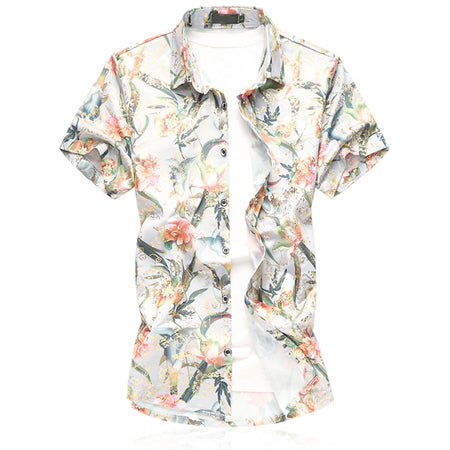 Slim Fit Lemon Print Shirt 4 Colors