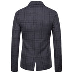 Modern Fit Plaid Dark Grey Leisure Blazer