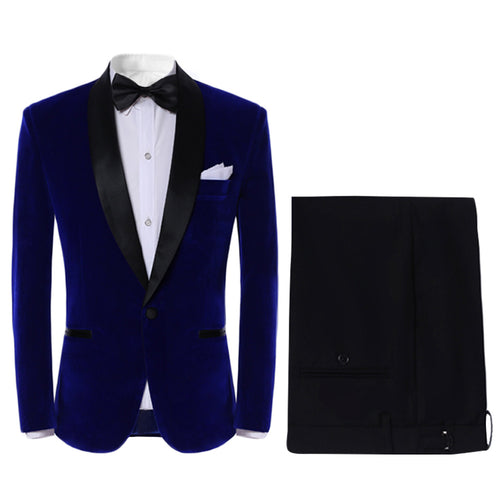 2-Piece Slim Fit Gentlemen Dinner Suit 4 Colors - Cloudstyle