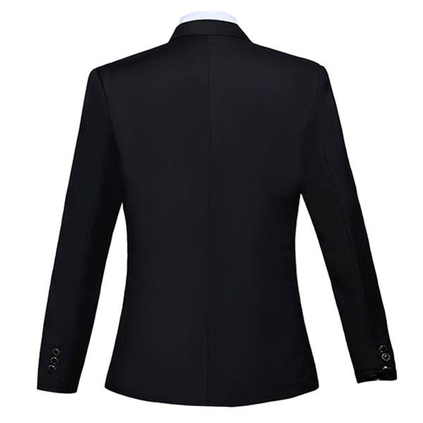 Slim Fit Peaked Lapel Dress Blazer 3 Colors