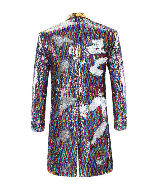 Slim Fit Motley Shiny Sequin Coat 2 Styles