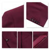 3-Piece Slim Fit Classic Casual Maroon Suit
