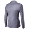 Grey Casual Blazer Slim Fit Business Blazer